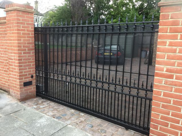 Electric gates fitted