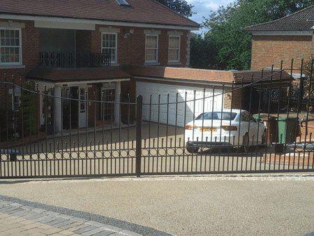 Secure entrance gates