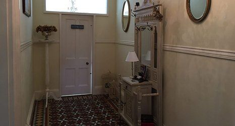 carpeted corridor