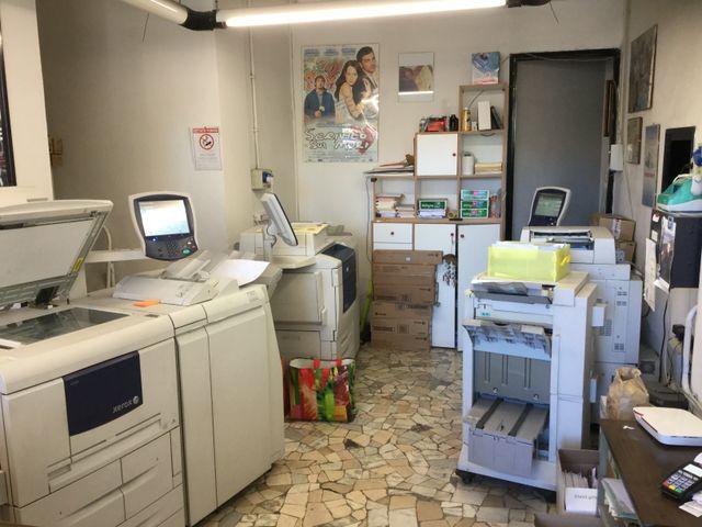 interno del centro stampa Berus a Roma