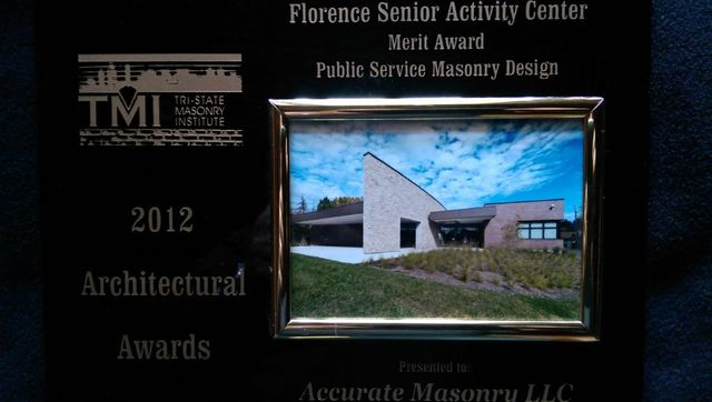 florence senior activity center award
