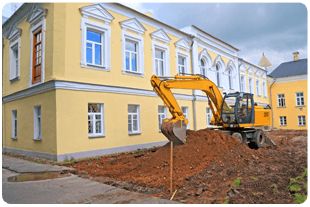 landscaping with using bulldozer