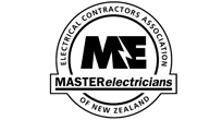 the logo for electrical contractors in Matakana