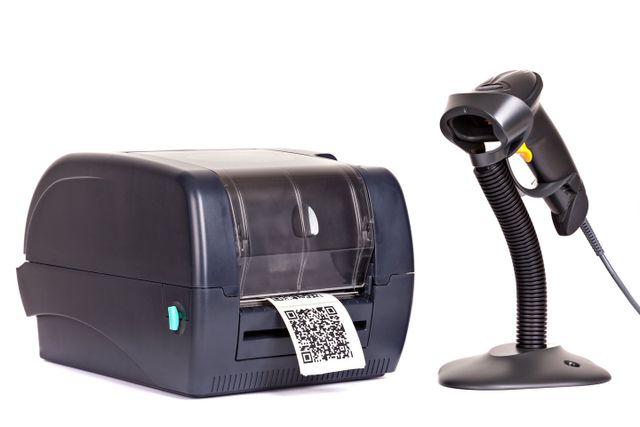 lettore di codici a barre e stampante