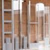 barre antitaccheggio con muro