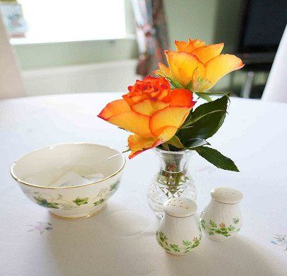Table decoration at the draen b&B