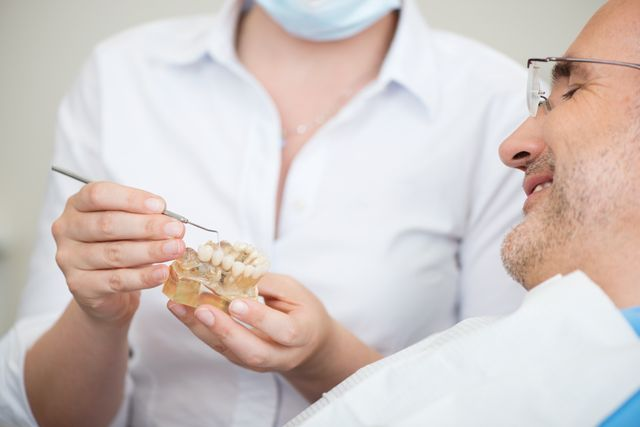 Patient about to have new dentures