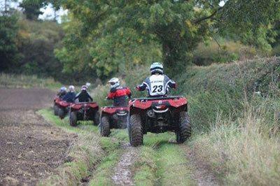 quad biking for a triple challenge