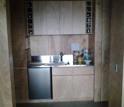 View of custom built custom cabinets