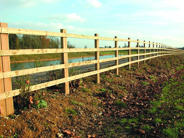 Post and rail fences