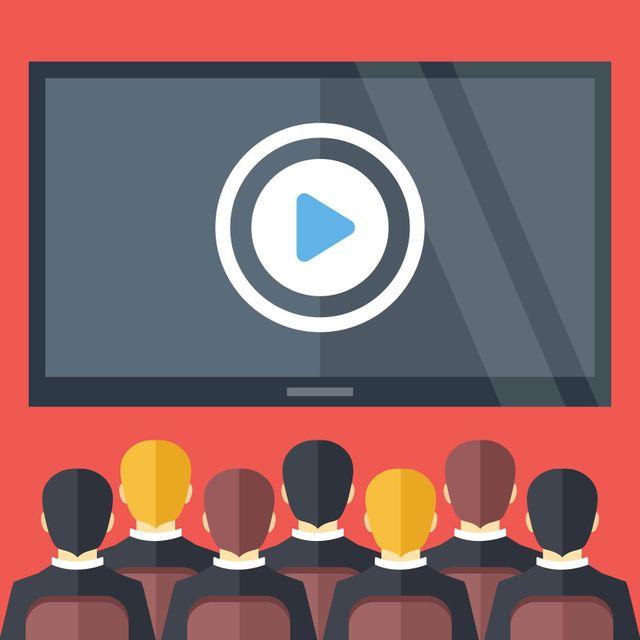 immagine di un cinema con schermo