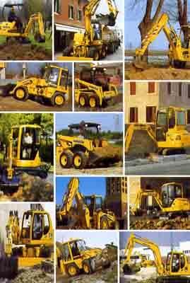degli escavatori gialli Komatsu