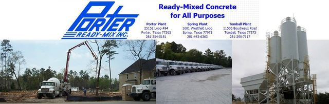 Home | Porter Ready Mix Inc  - Porter, Texas
