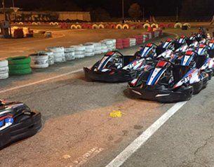 Go kart parcheggiati nel kartodromo a Riccione