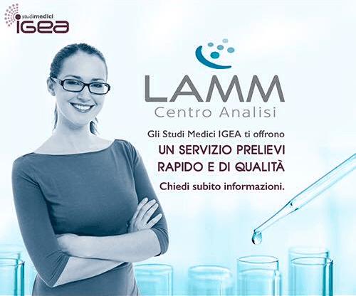 Sponsorizzazione Centro Analisi LAMM presso gli Studi Medici Igea ad Altopascio