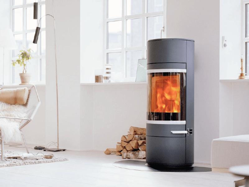 Wood burning stove in Wolverhampton.
