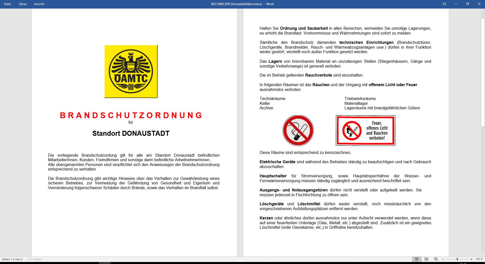 unsere leistungen fr sie - Brandschutzordnung Muster