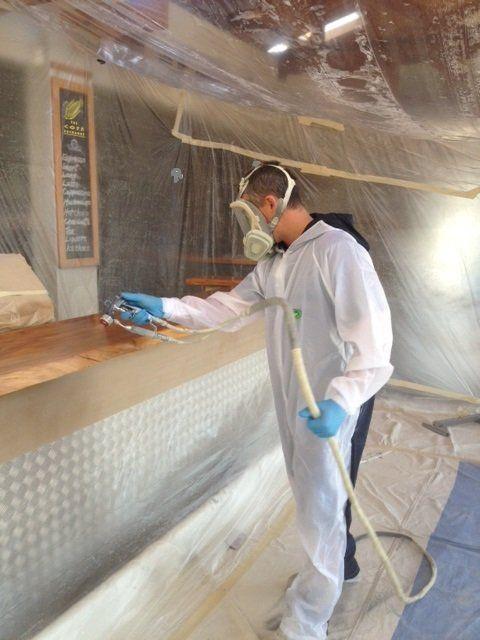 Spray painting job in Napier