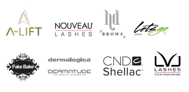 A-Lift | Nouveau Lashes | HD Brows | Lets Go Lashes | Fake Bake | Dermalogica | Dermatude | CND Shellac | LVL Lashes