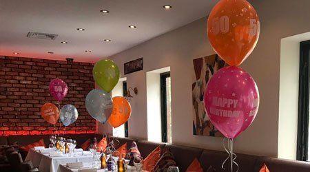 birthday decoration at a restaurant
