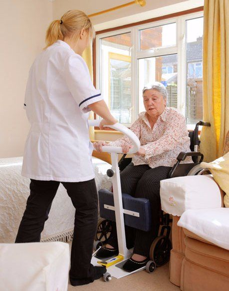moving an elderly patient with care