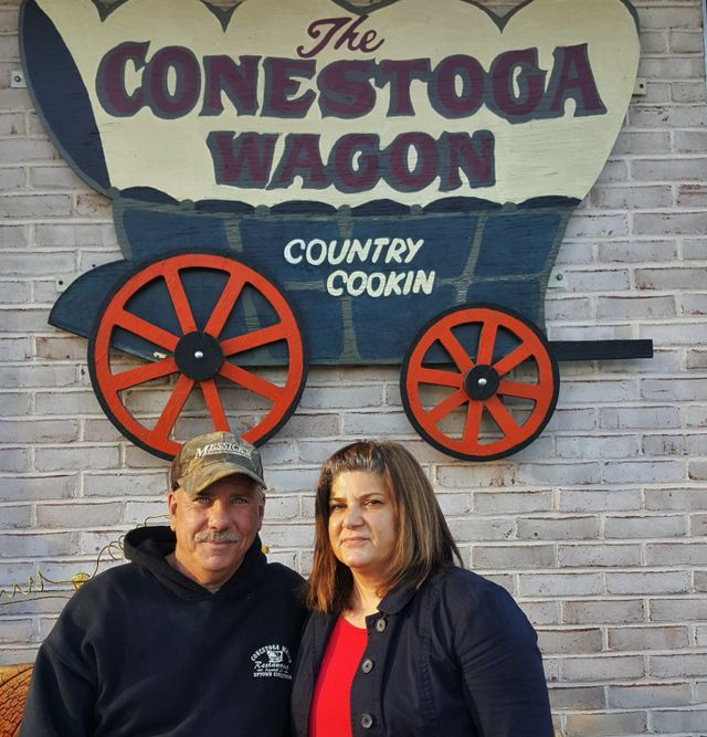 Bill and Nancy, owners of Conestoga Wagon Restaurant.