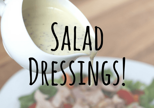 Salad Dressings and Dinner Options from The Conestoga Wagon Restaurant, Lancaster, PA.