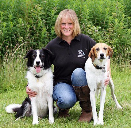 Carol Valvona with her two dogs