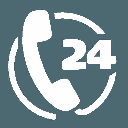 logo di un telefono e uno scritto 24