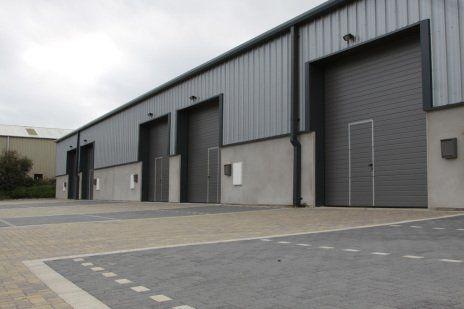Grey industrial doors