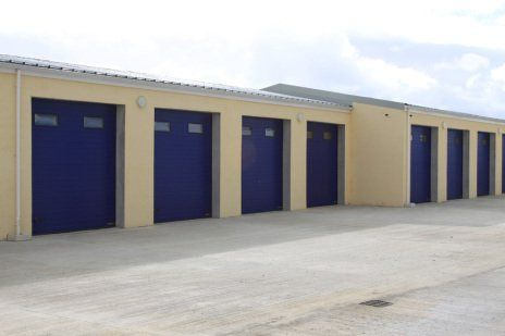 Blue industrial doors & Doors | Isle of Man | The Garage Door u0026 Gate Automation Company