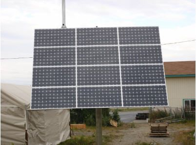 Example of solar panels in Soldotna, AK