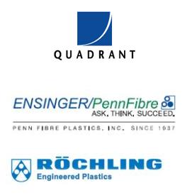 Quadrant, Ensinger/PennFibre, Rochling logos