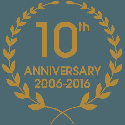 10 years anniversaty logo