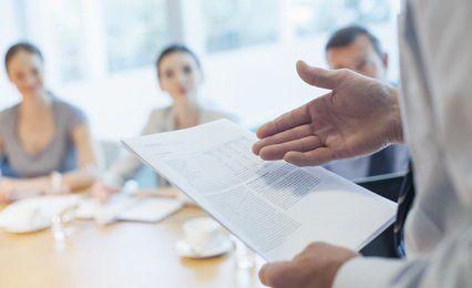 A business presentation