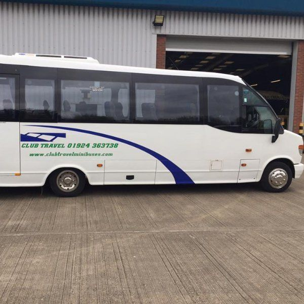 front view of the minibus