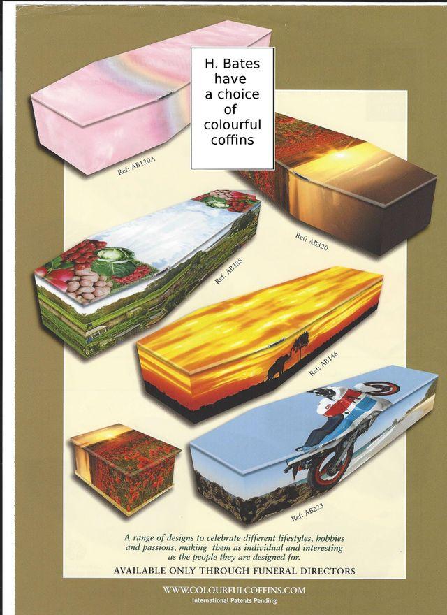 variety of coffins