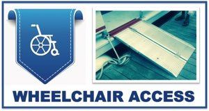 We are pleased to provide wheelchair access for our dolphin cruise