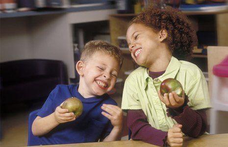 kids enjoying their fruit