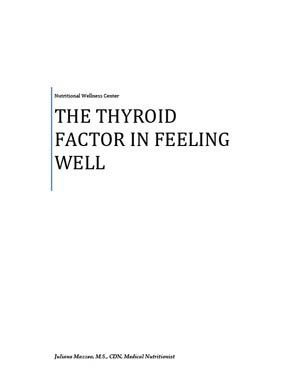 Paper by NWC Director, Juliana Mazzeo on Thyroid Imbalance