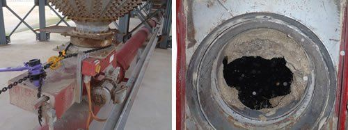 Cleaning of an agricultural silo