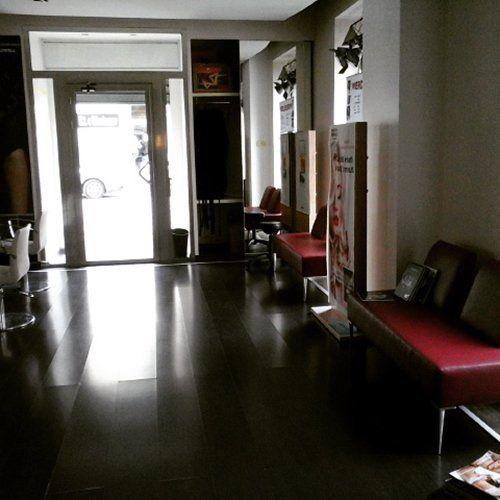 sala di attesa parrucchiera