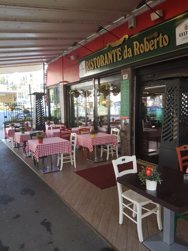 Esterno del ristorante Da Roberto a Rimini