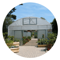 glass house garden ventilation