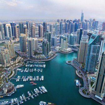 vista panoramica su una città moderna