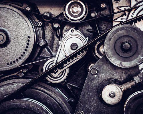 Ingranaggi meccanici di un motore