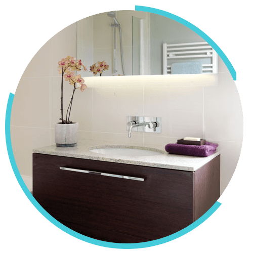 Bathroom ventilation and lighting