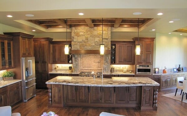hardwood cabinets in rustic kitchen aaah the kitchen place in fort collins co - The Kitchen Fort Collins