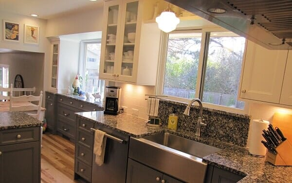granite countertops with gray cabinets aaah the kitchen place in fort collins co - The Kitchen Fort Collins