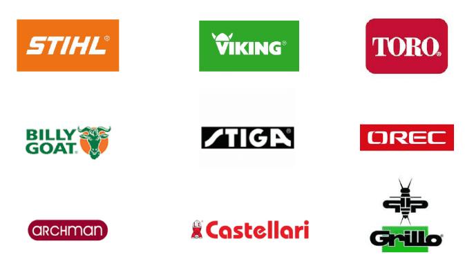 Loghi di brand di prodotti di settore